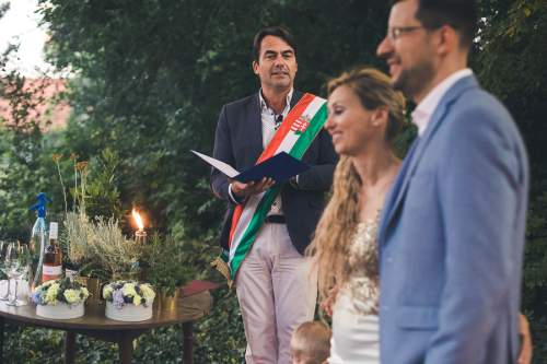 Gabor Herendi MC, american wedding in Hungary